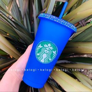 💙NEW💙Starbucks Blue Bling Color Changing Cup